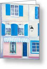 Blue Shutters Arles France Greeting Card