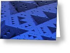 Blue Sierpinski Greeting Card