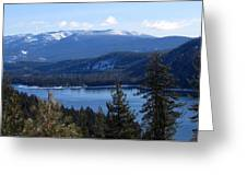Blue Sierra Lake Greeting Card