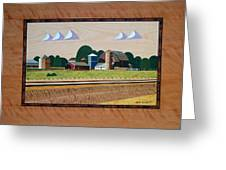 Blue Silo-marquetry Greeting Card
