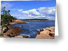 Blue Skies In Maine Greeting Card