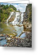 Blue Skies Over Ithaca Falls Greeting Card