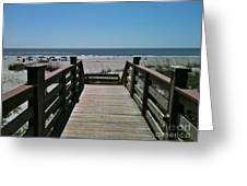 Blue Sky And Beautiful Beach Greeting Card