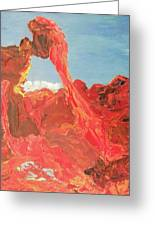 Blue Sky And Orange Rocks Greeting Card