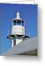 Blue Sky At The Lighthouse Greeting Card