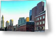 Blue Sky Boston Greeting Card