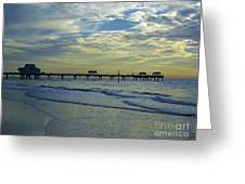 Blue Sky Clearwater Pier 60 Greeting Card