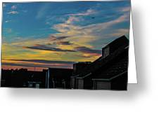 Blue Sky Colorful Sunset Greeting Card