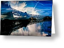 Blue Sky In Paris  Greeting Card