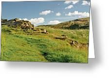Blue Sky Of Holyrood Walk. Greeting Card