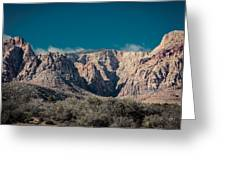 Blue Sky Over Red Rock Greeting Card