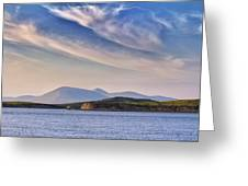 Blue Sky Over The Bay Greeting Card