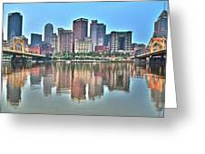 Blue Sky Reflecting Water Greeting Card