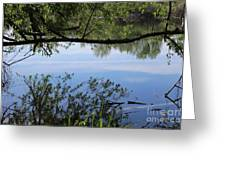 Blue Sky Reflection Greeting Card