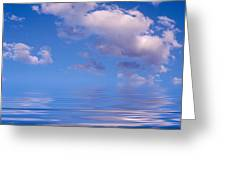 Blue Sky Reflections Greeting Card