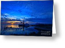 Blue Sky Sunset Greeting Card
