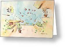 Blue Sky Terrace Greeting Card