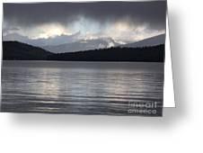 Blue Sky Through Dark Clouds Greeting Card