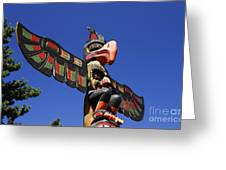 Blue Sky Totem Greeting Card