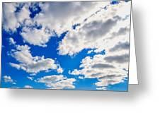 Blue Sky With Cloud Closeup 2 Greeting Card