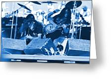Blue Skynyrd Smoke Greeting Card