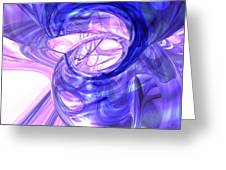 Blue Smoke Abstract Greeting Card