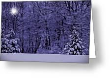 Blue Snow Greeting Card