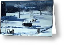 Blue Snow. The Battery Greeting Card