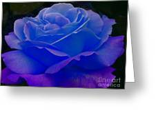 Blue Softness Greeting Card