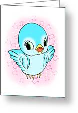 Blue Song Bird Greeting Card