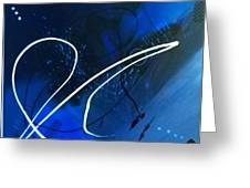 Blue Speed Greeting Card