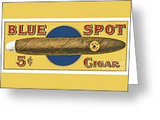 Blue Spot Cigars Greeting Card