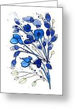 Blue Spray Greeting Card