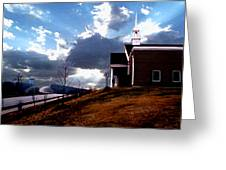 Blue Springs Landscape Greeting Card