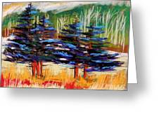 Blue Spruce Stand Greeting Card