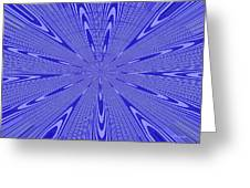 Blue Star Janca Abstract Greeting Card