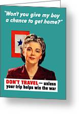 Blue Star Mother -- Ww2 Greeting Card