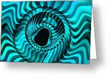 Blue Starburst Greeting Card