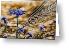 Blue Stars Greeting Card
