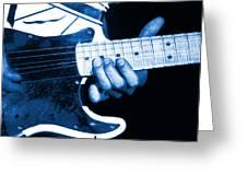 Blue String Bender Greeting Card