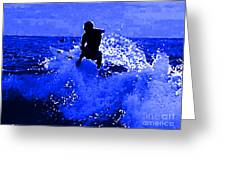 Blue Surf Greeting Card
