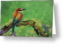 Blue Tailed Bee Eater Greeting Card