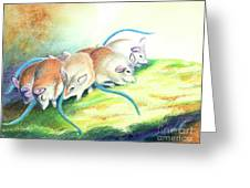 Blue Tailed Society Greeting Card
