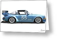 Blue Targa Greeting Card by Alain Jamar