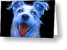 Blue Terrier Mix 2989 - Bb Greeting Card