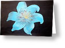 Blue Tiger Lily Greeting Card