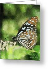 Blue Tiger Greeting Card