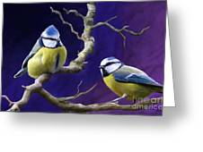 Blue Titmouse Greeting Card