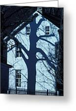 Blue Tree House Greeting Card