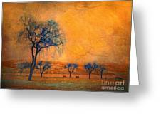 Blue Trees And Dreams Greeting Card